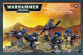 Warhammer 40,000 Space Marine Devastator Squad Figurines and Sets
