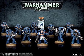 Warhammer 40,000 Space Marine Tactical Squad Figurines and Sets