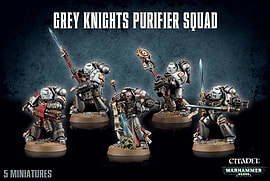Warhammer 40,000 Grey Knights Purifier Squad Figurines and Sets