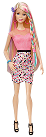 Barbie Rainbow Makeover Hair Doll Figurines and Sets