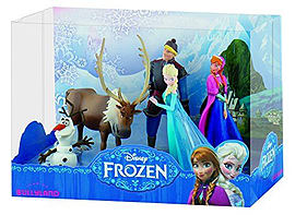 Disney Frozen Gift Box (Anna, Elsa, Olaf, Kristoff, Sven) Deluxe Set Figurines and Sets
