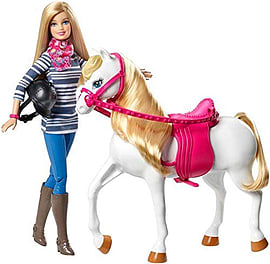 Barbie and Horse Figurines and Sets