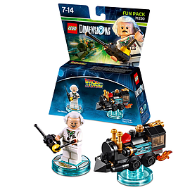 Doc Brown Fun Pack - LEGO Dimensions - Back to the Future Toys and Gadgets