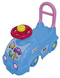 Barbapapa Kids Ride On Car With Push Bar (obar49) Pre School Toys