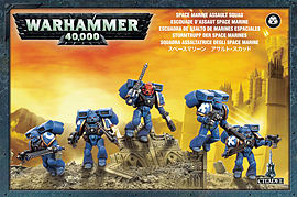 Warhammer 40,000 Space Marine Assault Squad Figurines and Sets