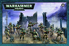 Warhammer 40,000 Cadian Shock Troops Figurines and Sets