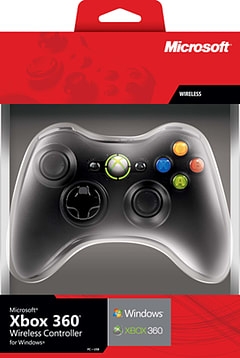 Wireless Xbox 360 Controller for Windows (Black) Accessories