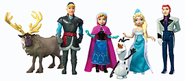 Disney Frozen Complete Story Doll Set Figurines and Sets