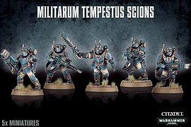 Warhammer 40,000 Militarum Tempestus Scions Figurines and Sets