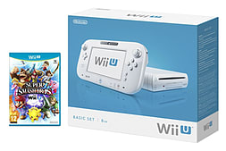 Nintendo WiiU 8GB Basic White Super Smash Bros Bundle Wii U