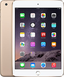 Apple iPad Mini 3 128GB (Wifi+Cellular) Gold Tablet