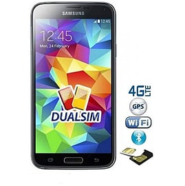 Samsung Galaxy S5 G900FD Dual Sim 16GB LTE Unlocked Phone (Black) Phones