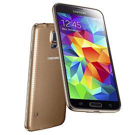 Samsung Galaxy S5 G900F 16GB LTE Sim Free Unlocked Phone (Gold) Phones