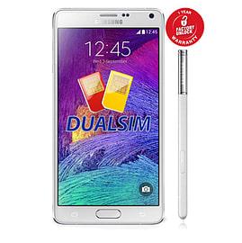 Samsung Galaxy Note 4 N9100 Dual Sim 16GB Unlocked Phone (White) Phones