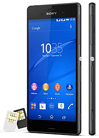 Sony Xperia Z3 D6633 Dual Sim 16GB LTE Unlocked Phone (Black) Phones