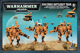Warhammer 40,000 XV8 Crisis Battlesuit Team Figurines and Sets