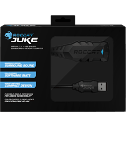 Roccat JUKE 7.1 USB Stereo Soundcard and Headset Adapter PC