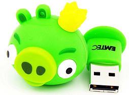 Angry Birds Green King Pig 4GB USB Flash Drive PC
