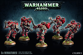 Warhammer 40'000 Chaos Space Marine Raptors Figurines and Sets