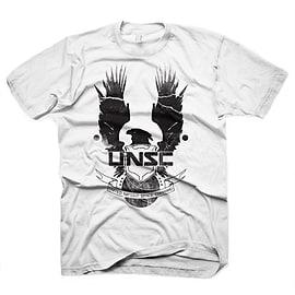 Halo 4 New Unsc Logo Medium T-shirt, White (ge1272m) Clothing