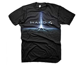 Halo 4 In The Stars Large T-shirt, Black (ge1270l) Clothing