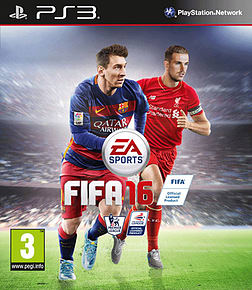 FIFA 16 PlayStation 3 Cover Art