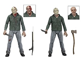 Friday the 13th Part 3 - 7 Scale Action Figure Set - Regular and Disfigured Jason Voorhees Figurines and Sets