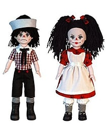 Living Dead Dolls Rotten Sam and Sandy Doll Figurines and Sets