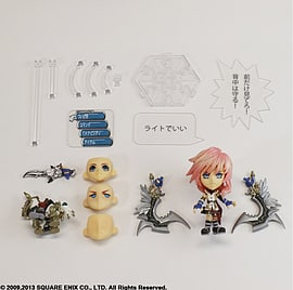 Final Fantasy Trading Arts Mini Kai No. 6 Lightning Figurines and Sets
