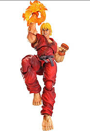 Super Street Fighter IV Arcade Edition Play Arts Kai Volume 4 Ken Figurines and Sets