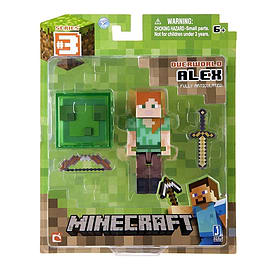 Minecraft 3-inch Alex Figure with Accessory Figurines and Sets