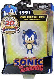 Sonic Through Time 1991 & Figure: Sonic the Hedgehog 20th Anniversary Figure Figurines and Sets