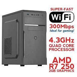 Fierce SATURN Overclocked Quad-Core Gaming PC (Athlon X4 860K 4.3GHz, R7 250 2GB, 8GB, Wifi) PC