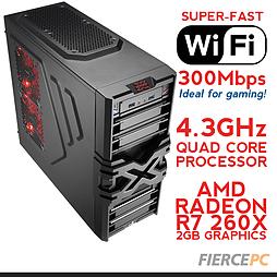 Fierce VENUS Overclocked Quad-Core Gaming PC (Athlon X4 860K 4.3GHz, R7 260X 2GB, 8GB, Wifi) PC