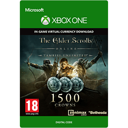 The Elder Scrolls Online Tamriel Unlimited 1500 Crowns Xbox Live Cover Art