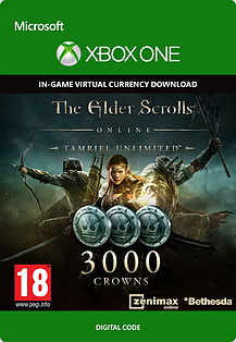 The Elder Scrolls Online Tamriel Unlimited 3000 Crowns Xbox Live Cover Art