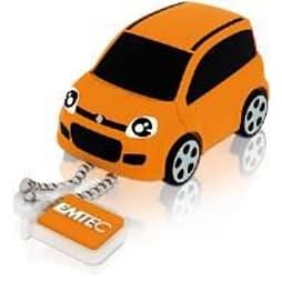 Emtec Fiat 3D USB 2.0 (8GB) Flash Drive (Fiat Panda) - Orange PC