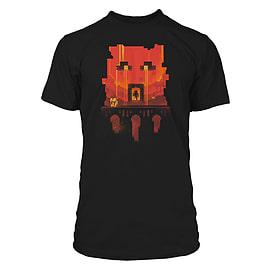 Boys Minecraft T-shirt | Mine Craft Tshirt | Official | GLIMPSE | Youth | 12-14 | BLACK Clothing