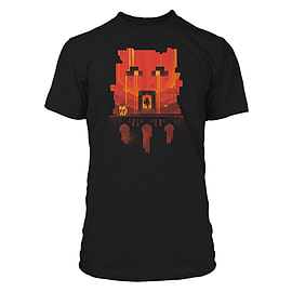 Boys Minecraft T-shirt | Mine Craft Tshirt | Official | GLIMPSE | Youth | 9-10 | BLACK Clothing