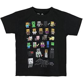Boys Minecraft T-shirt | Mine Craft Tshirt | Official | SPRITES | Youth | 9-10 | BLACK Clothing