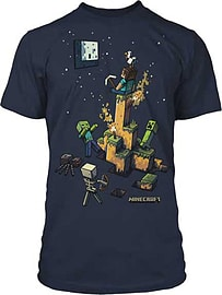Boys Minecraft T-shirt | Mine Craft Tshirt | Official | TIGHT SPOT | Youth | 7-8 | NAVY Clothing