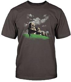 Adults Minecraft T-shirt | Mine Craft Tshirt | Official | STATUES | Adult | L | DARK GREY Clothing
