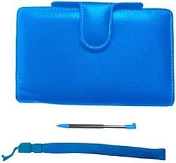 Pairandgo Nintendo 3DS Luxury Protector Case Accessory Pack Blue + Stylus + Wrist Strap 3DS