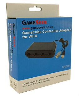 Super Smash Bros GameCube Controller Adapter for Wii U Wii U
