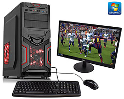 ADMI Gaming PC Package - Powerful Desktop Gaming Computer with 21.5 Inch Monitor, Keyboard and Mouse PC