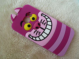 DIA DISNEY CHESHIRE CAT FACE SOFT SILICONE PHONE CASE COVER FOR SAMSUNG GALAXY S6 EDGE (DIS PURPLE ) Mobile phones
