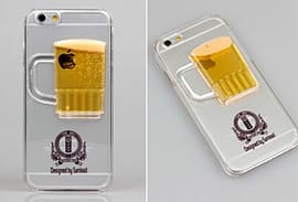 DIA BEER MOVING LIQUID HARD CASE COVER FOR IPHONE 5 (D13 CLEAR/YELLOW) Mobile phones
