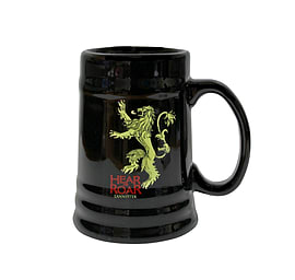 Game Of Thrones - Hear Me Roar Lannister Black Ceramic Beer Stein Home - Tableware