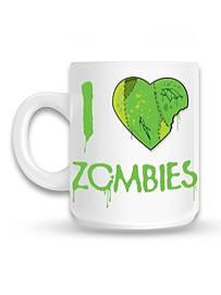 I Love Zombies White Mug Home - Tableware