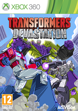Transformers Devastation Exclusive Edition Xbox 360 Cover Art